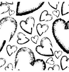Seamless hand drawn hearts vector