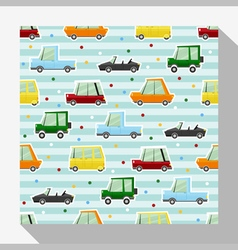 Seamless pattern collection with car 2 vector