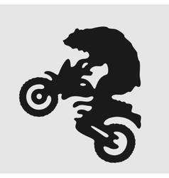 Symbol Biker Bear vector image vector image