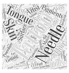 Tongue tattoos word cloud concept vector