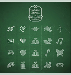 Valentines day hand drawn doodle icon set vector