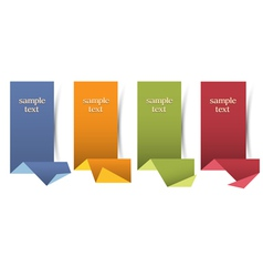 Vertical origami banners vector image vector image