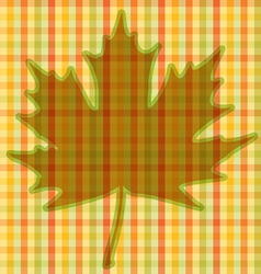 Squared autumnal card vector
