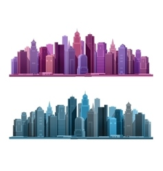 City icon business and tourism concept with vector