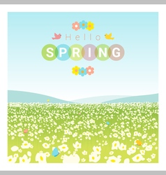 Hello spring landscape background vector