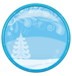 Christmas background button vector image