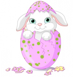 Easter baby bunny vector image