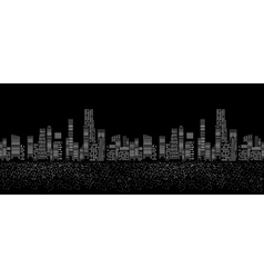 Seamless pattern of cities silhouette vector