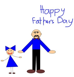 Kids picture for fathers day greeting car vector