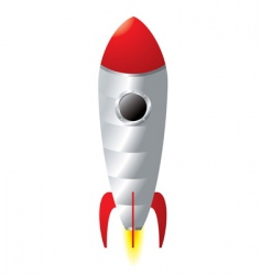Rocket cartoon vector