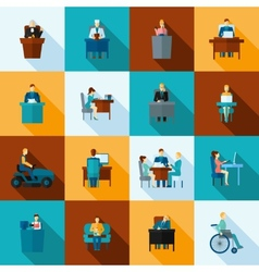 Sedentary icon flat vector