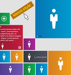 Human man person male toilet icon sign metro style vector