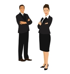 Businessman and businesswoman vector image