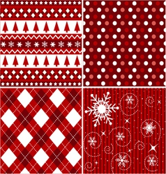 Seamless patterns with christmas texture vector