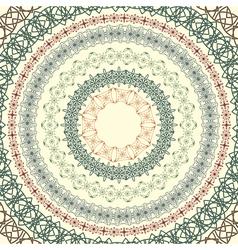 circle vintage pattern vector image