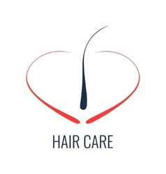 Hair care follicle icon vector