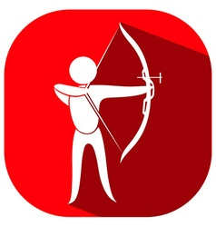 Red icon for archery vector