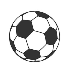 Icon of ball for european football soccer symbol vector