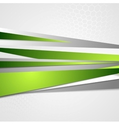 Abstract green grey corporate design vector