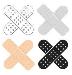 adhesive plaster icon cartoon single medicine vector image