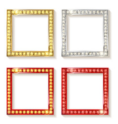 big set of retro frames vector image vector image
