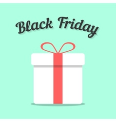 black friday and white gift box vector image vector image