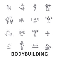 bodybuilding body muscle gym muscleman vector image vector image