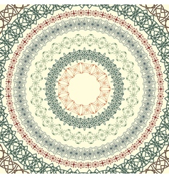 circle vintage pattern vector image vector image