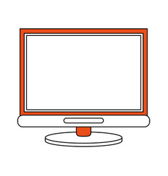 Color silhouette image cartoon front view computer vector