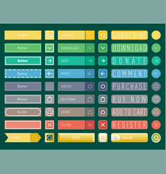 Colorful website web buttons design vector