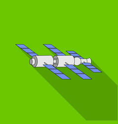 Docking of a space station in orbit space vector