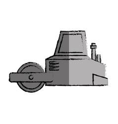 Flattening machine isolated icon vector