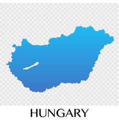 Hungary map in europe continent design vector