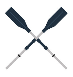 icon of boat oars vector image vector image