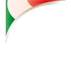 italian flag frame corner vector image vector image