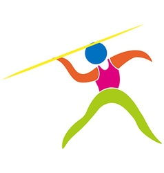 Javelin icon on white background vector