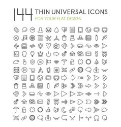 Large collection of thin universal web icon set vector
