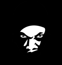 Man face lurking in the dark vector