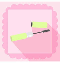 mascara flat icon on pink background vector image