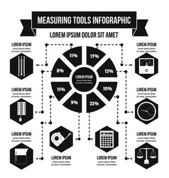 Measuring tools infographic concept simple style vector