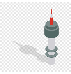 namsan tower in seoul isometric icon vector image