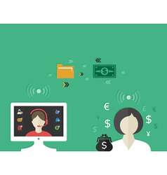 Online business3 vector image vector image