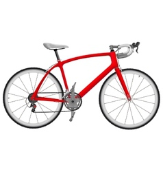 Road racing bike vector