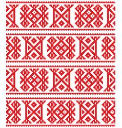 sami seamless design lapland cross-stitch vector image