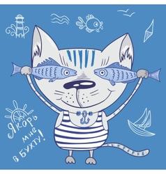 Sea cat vector image vector image