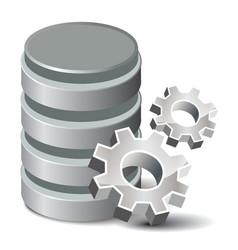 Settings Database vector image vector image