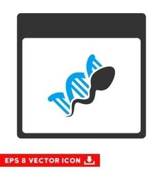 Sperm dna replication calendar page eps vector
