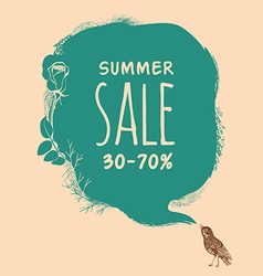 Summer sale background vector