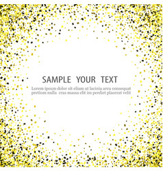 Texture gold glitter particles vector