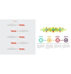Timeline infographic with diagram and text vector image vector image
